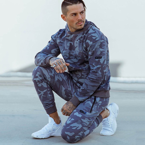 Image 3 - Sports suits Men Set Brand Fitness Suits autumn Men Set Long Sleeve Camouflage Hoodies+Pants Gyms Running Sportswear Suit