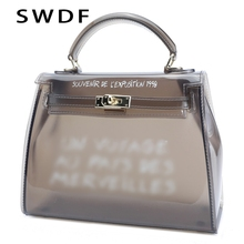 SWDF Luxury Clutch Transparent Jelly Bag Clear Women Bags Over The Shoulder Female Bags Purses And Handbags Messenger Bag Lady цена