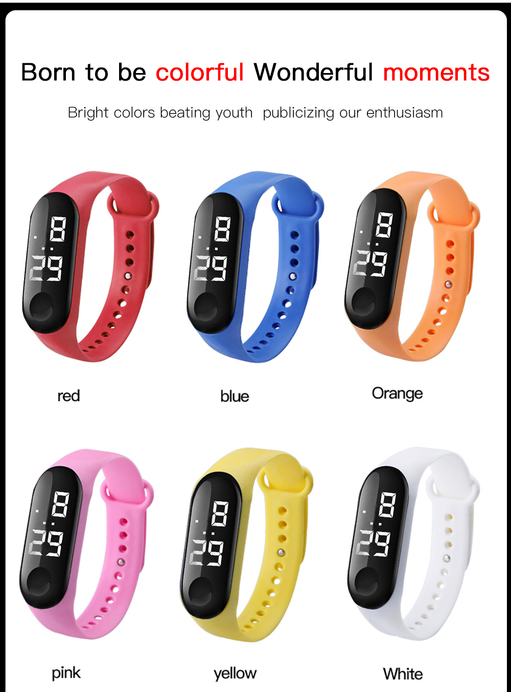colorful smart watches