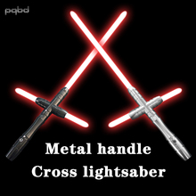 pqbd Cross Lightsaber Metal With Sound The Force Awakens Laser Sword Toy Glowing Saber Custom Engraving Gifts Cosplay