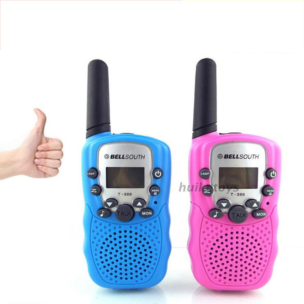 Kids Walkie Talkies Toy Child Electronic Radio Voice Interphone Toy Outdoor LCD Display Walkie Talkies Toy