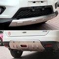 Автомобильные чехлы из нержавеющей стали передняя + Задняя накладка на бампер для Nissan X-Trail X Trail t32 2014 2015 2016 автомобильный Стайлинг