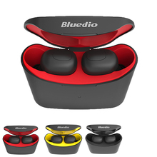 BluedioT-elf Bluetooth Headset TWS Stereo Earphones True Wireless Earbuds Sport with Dual Microphone Charge Case for Phones awei t6c tws bluetooth earphone wireless earbuds sport stereo earphones dual microphone headset with charging case for phones