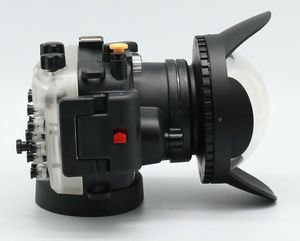 Image 4 - 40 m/130ft A6000 para Sony (16 50) carcasa de cámara subacuática + lente gran angular de puerto de cúpula + 67mm Filtro de buceo rojo