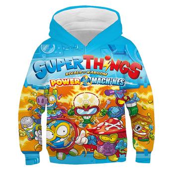 Dzieci Super Zings 3D bluza z kapturem z nadrukiem dla dzieci kreskówka bluza chłopiec dziewczyna gra Superzings pulower w stylu Harajuku jesienne zimowe bluzki tanie i dobre opinie SONDR COTTON POLIESTER CN (pochodzenie) Na wiosnę jesień Bluzy z kapturem REGULAR Pełne STANDARD Sukno Super Zings Hoodies