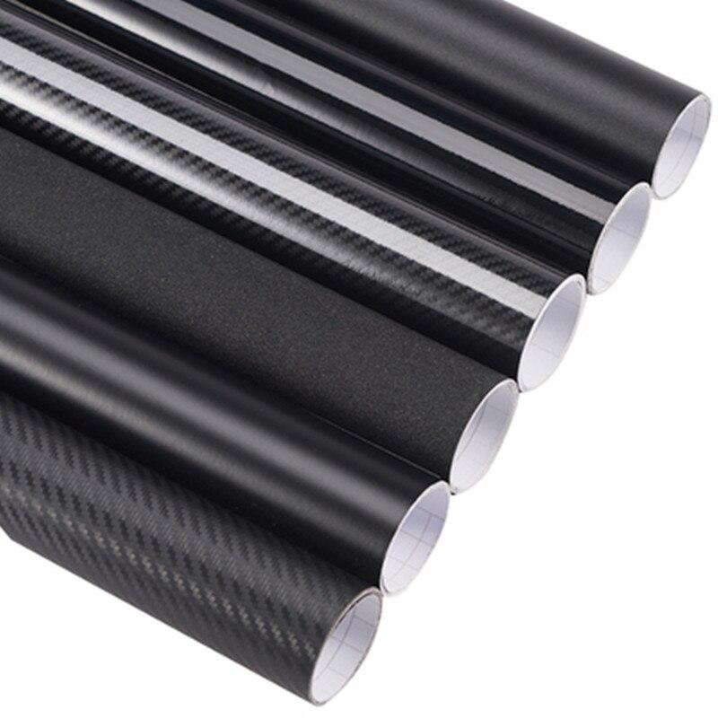 3d 4d 5d 6d fibra de carbono filme da folha de vinil rolo envoltório do carro pvc adesivo decalque preto diy à prova dwaterproof água todo o tempo fita adesiva volta novo