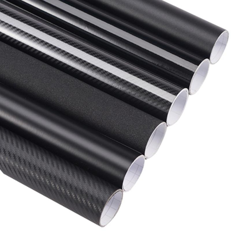 3D 4D 5D 6D z włókna węglowego folia winylowa Film Car Wrap rolka pcv naklejka naklejka czarny DIY wodoodporna na każdą pogodę taśma klejąca powrót nowy