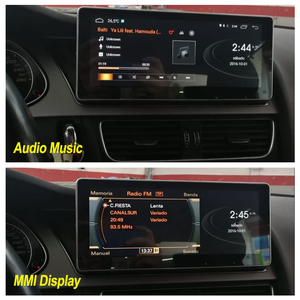 Image 3 - Android 10 4+64G Car Multimedia Player For AUDI A4 B8 8K 2008~2016 MMI 2G 3G Android Display Radio GPS Navigation Touch Screen