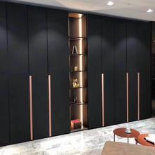 Матовый черный гардероб для ходьбы, настраиваемая мебель, Скандинавская мебель, размер заказа, китайский шкаф, современный шкаф