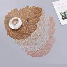 Placemat For Dining Table Mat Soft PVC Palm Leaf Simulation Plant Mats Coffee Cup Home Desktop Decoration