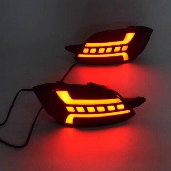 Car LED Rear Fog Lamp Brake Light Rear Bumper Light Reflector for Honda Civic 2016 2017 2018 2019