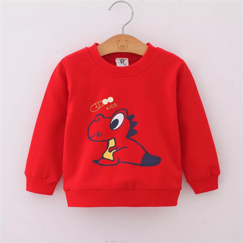 Baby Boy Sweatshirts Children Hoodies Spring Autumn Cartoon Dinosaur Baby Girl Tops Kids T-shirt Sportswear Pullover Clothes