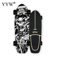 Cx4 cx7 surf terra skate bordo único pontapé carving cruiser skate board longboard legal lado esporte rua ao ar livre ginásio