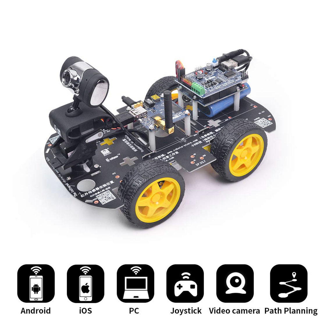 Programmable Robot DIY Wifi Steam Educational Car With Graphic Programming XR BLOCK Linux For Arduino For UNO R3 Standard