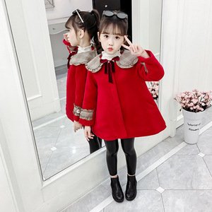 Image 3 - 3Color Girls Winter Warm Coats&Jacket,Children Winter High quality Solid Long sleeve Wool coat,Baby Girls Outwear For 3 8Yrs