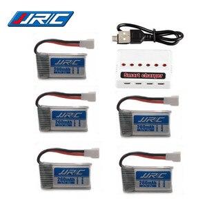 Original jjrc h8 mini bateria 3.7 v 260 mah lipo bateria e (6in1) carregador para eachine h8 jjrc h8 rc quadcopter zangão parte