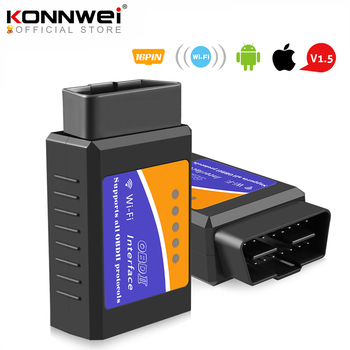 ELM327 Wifi V1.5 PIC18F25K80 Chip Code Reader ELM 327 OBD 2 Auto Scanner for IOS Android ELM 327 V1.5 WI-FI ODB2 Diagnostic Tool