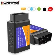 Elm327 wifi v1.5 pic18f25k80 leitor de código chip elm 327 obd 2 scanner automático para ios android elm 327 v1.5 wi fi odb2 ferramenta de diagnóstico