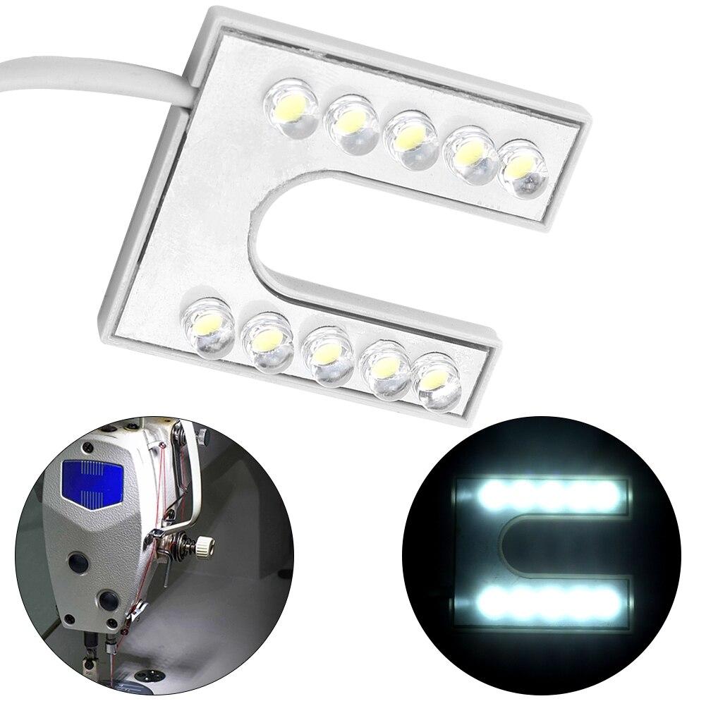 Ac 110-265 v conduziu a lâmpada flexível clara do gooseneck com base magnética para a máquina de costura com plugue da ue