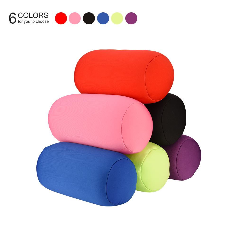 Micro Mini Microbead Back Cushion Roll Throw Pillow Travel Home Sleep Bed Accessories Sleeping Pillow Green