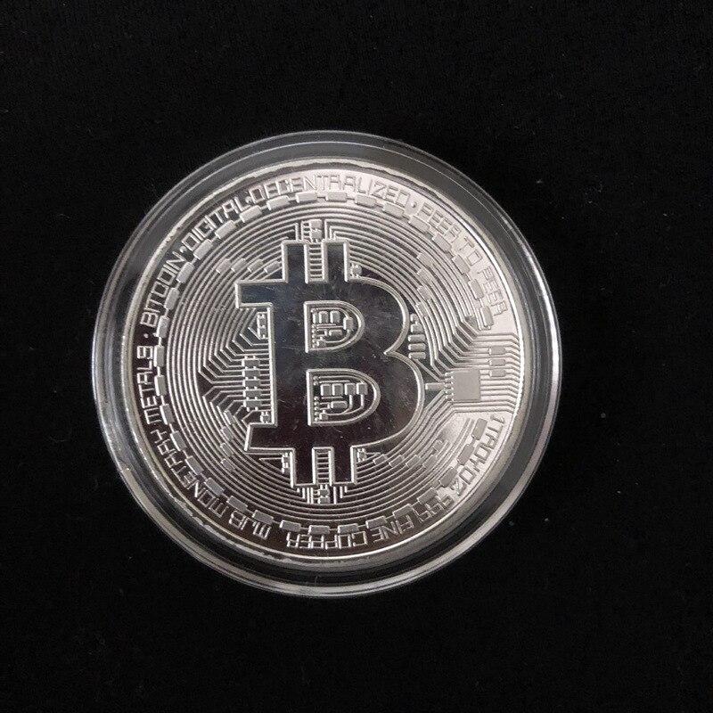 Antique Collection Metal 1PCS Plated Gold Physical Bitcon BTC Bitcoints Case Commemorative Souvenir Art Coins Collectible Gift-2