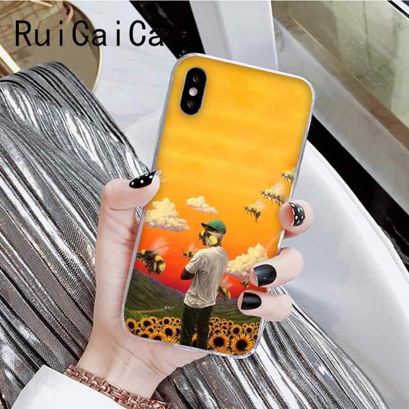 RuiCaiCa tyler die creatorb DIY Druck Zeichnung Telefon Fall Shell Für iPhone 8 7 6 6S Plus X XS MAX 5 5S SE XR 11 11pro 11promax