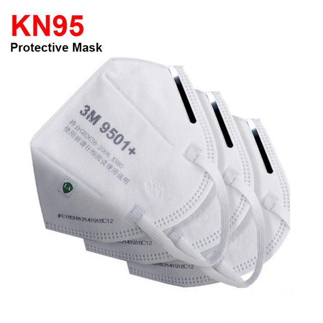 3M Masks 9501 KN95 Dust Mask Anti-haze Riding Protective Mask Anti-particles Filter PM2.5 Safety EarLoop KN95 Mouth Face Masks 1