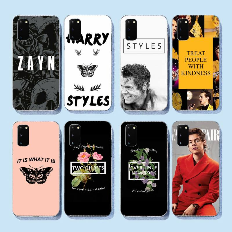 NBDRUICAI <font><b>Harry</b></font> <font><b>Styles</b></font> tattoos One Direction <font><b>Phone</b></font> <font><b>Case</b></font> Cover for <font><b>Samsung</b></font> S9 plus <font><b>S5</b></font> S6 S7 edge S8 S10 plus image