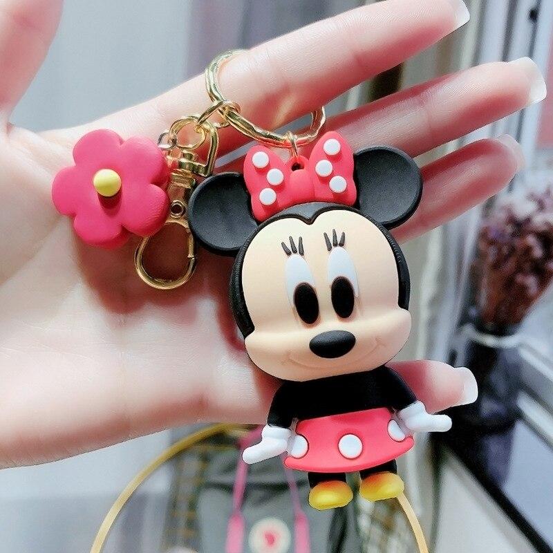 2021 Disney с Микки Маусом и Минни Маус комплект брелок для ключей с мышью с Микки Маусом «Холодное сердце» цифр для мальчиков и девочек, сумка бр...