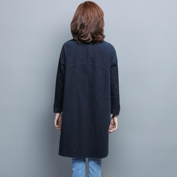 Verde azul marino largo Kimono camisa Cardigan mujer de manga larga talla grande blusas sueltas blusas primavera otoño mujeres camisetas DG161