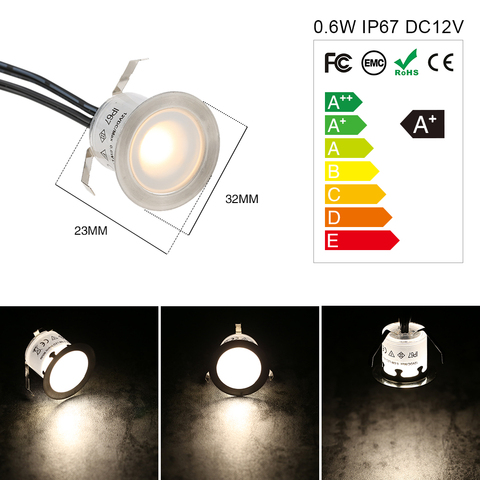 16 pces 06w alta brilhante recessed led