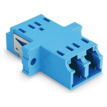 Acoplador de fibra optica LC a LC monomodo duplex  Azul