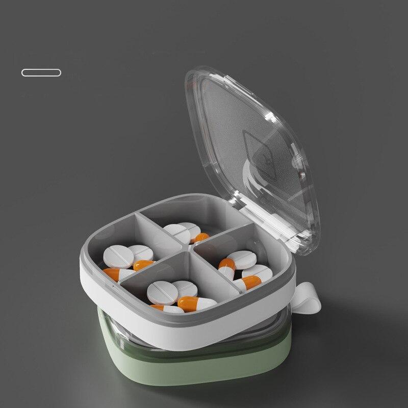 Portable Pill Box Travel Pill Case Medicine Box Travel Weekly Medicine Health Travel Case Holder Mini Cute Plastic Pill Box