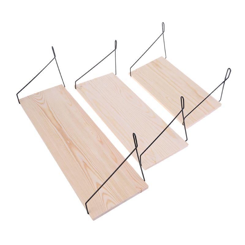 Wall Shelf Household Wooden Hanging Holder Storage Mount Rack Home Decor Display
