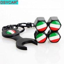DSYCAR  4Pcs/Set Italian Flag Style Bike Motorcycle Car Tire Valve Stem Caps For Car/Motorcycle,Air Leakproof