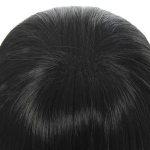 Image 4 - L mail pruik Demon Slayer Iguro Obanai Cosplay Pruiken Kimetsu geen Yaiba Zwarte Korte Halloween Cosplay Pruik Synthetisch Haar perucas