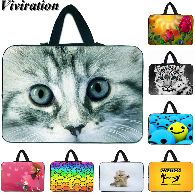 Neoprene Laptop Bag 14 Inch <font><b>Funda</b></font> <font><b>Portatil</b></font> <font><b>15.6</b></font> 11.6 12 13 15 17 10.2 10 Notebook Case Girls Women Portable Sleeve Pouch Cover image