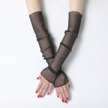 Summer Lady Gauze Sleeves Sun Protection Breathable Fashion Sunscreen Uv Arm Warmers for Women Thin Long-sleeved Mittens New