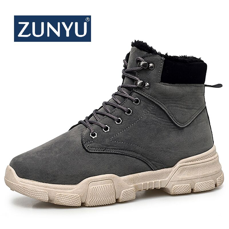ZUNYU New Hot Sale Super Warm Men Winter Boots For Outdoor Men Warm Fur Boots Shoes Plush Men's Ankle Snow Boot Botas Masculina