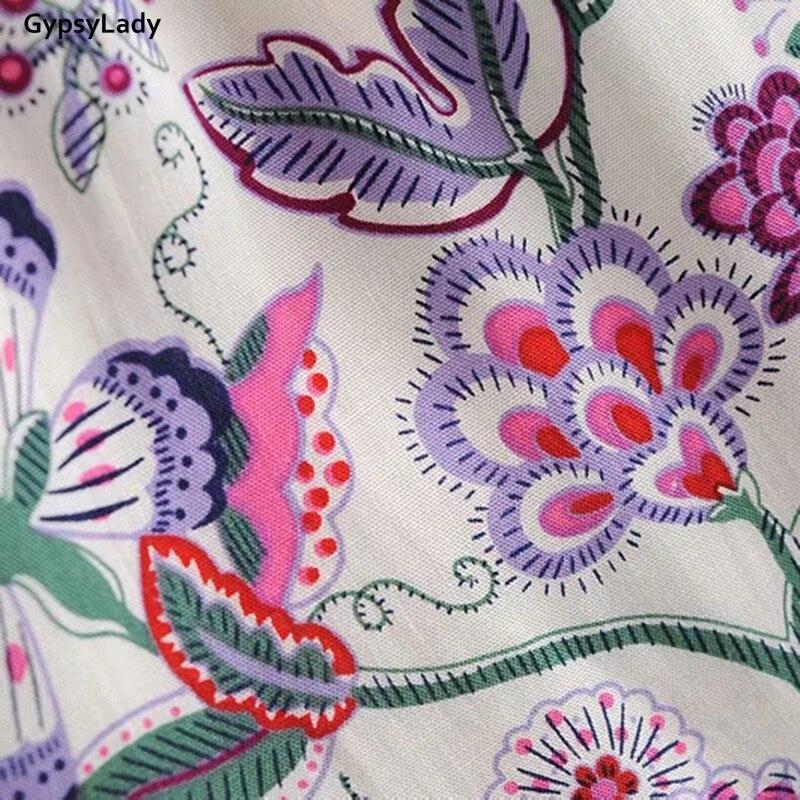 Купить женское винтажное платье с цветочным принтом gypsylady длинное