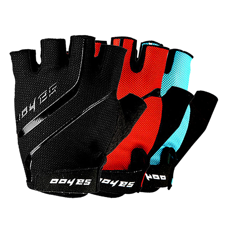 SAHOO Full Finger Touchscreen Gel Silicone Padded Anti-slip Outdoor Cycling Mountain Bike Road Racing Bicycle Riding Motorcycle Gloves With Wrist Wrap