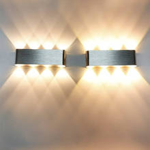 Dimmable 8W LED Wall Lamp Indoor Aluminum Wall Sconce Living room Stair Aisle Corridor Bedroom Bedside Decorate LED Wall Light retro chinese wall lamp wall sconce antique wood parchme stair aisle corridor bedroom living room cafe lamp e27 wall light bra