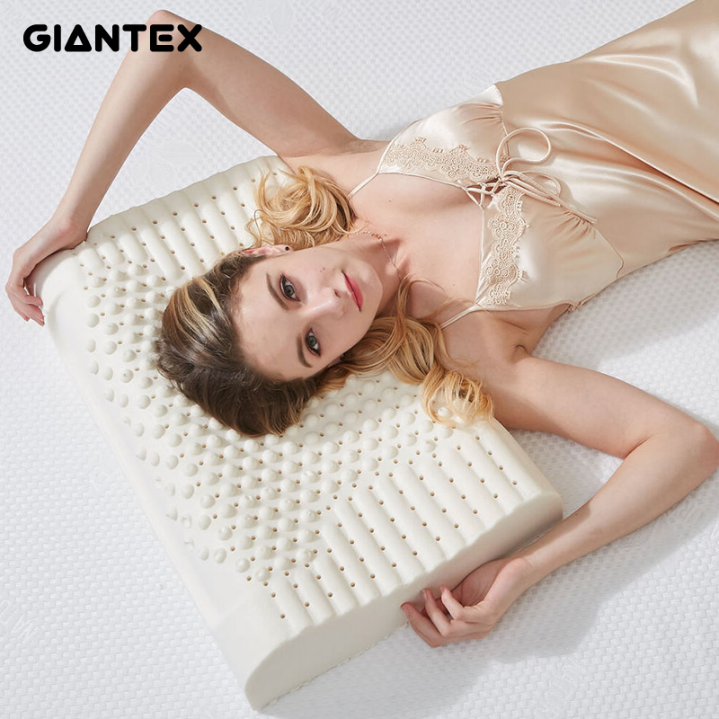 GIANTEX Latex Pillow Massage Pillows For Sleeping Orthopedic Pillow Kussens Oreiller Almohada Cervical Poduszkap Memory Pillow