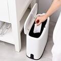 Практичный пресс-тип двухслойный мусорный бак с мусорными мешками приемный ящик для гостиной Туалет офис. Бумажная корзина мусорное ведро