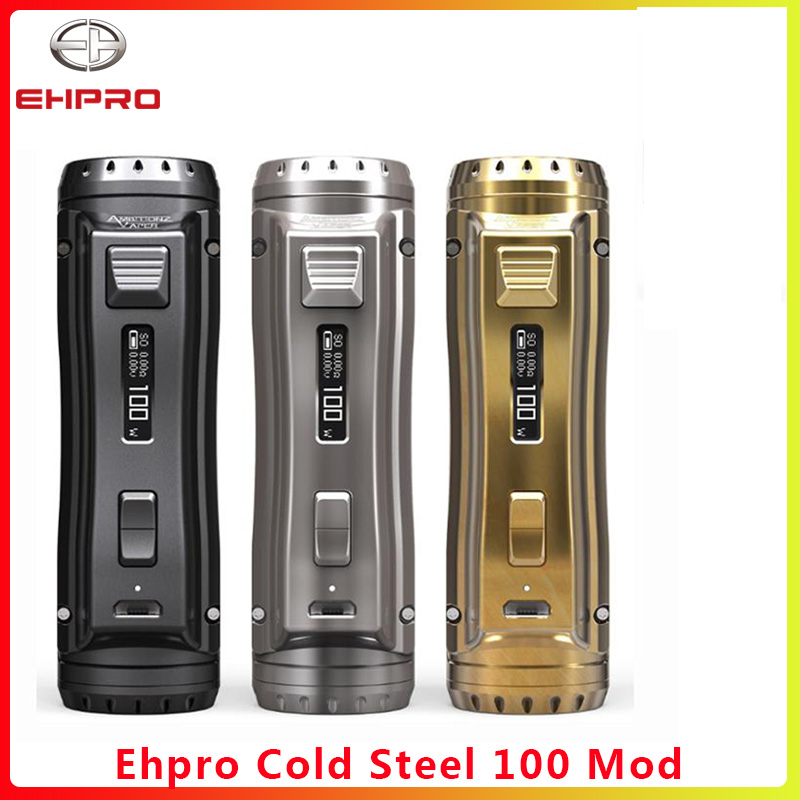Ehpro Cold Steel 100 120W TC Box MOD 0.0018S Firing Fast & Software Update  Vaporizer Cigarette Vape Mod Vs OBS Cube/ageis Solo