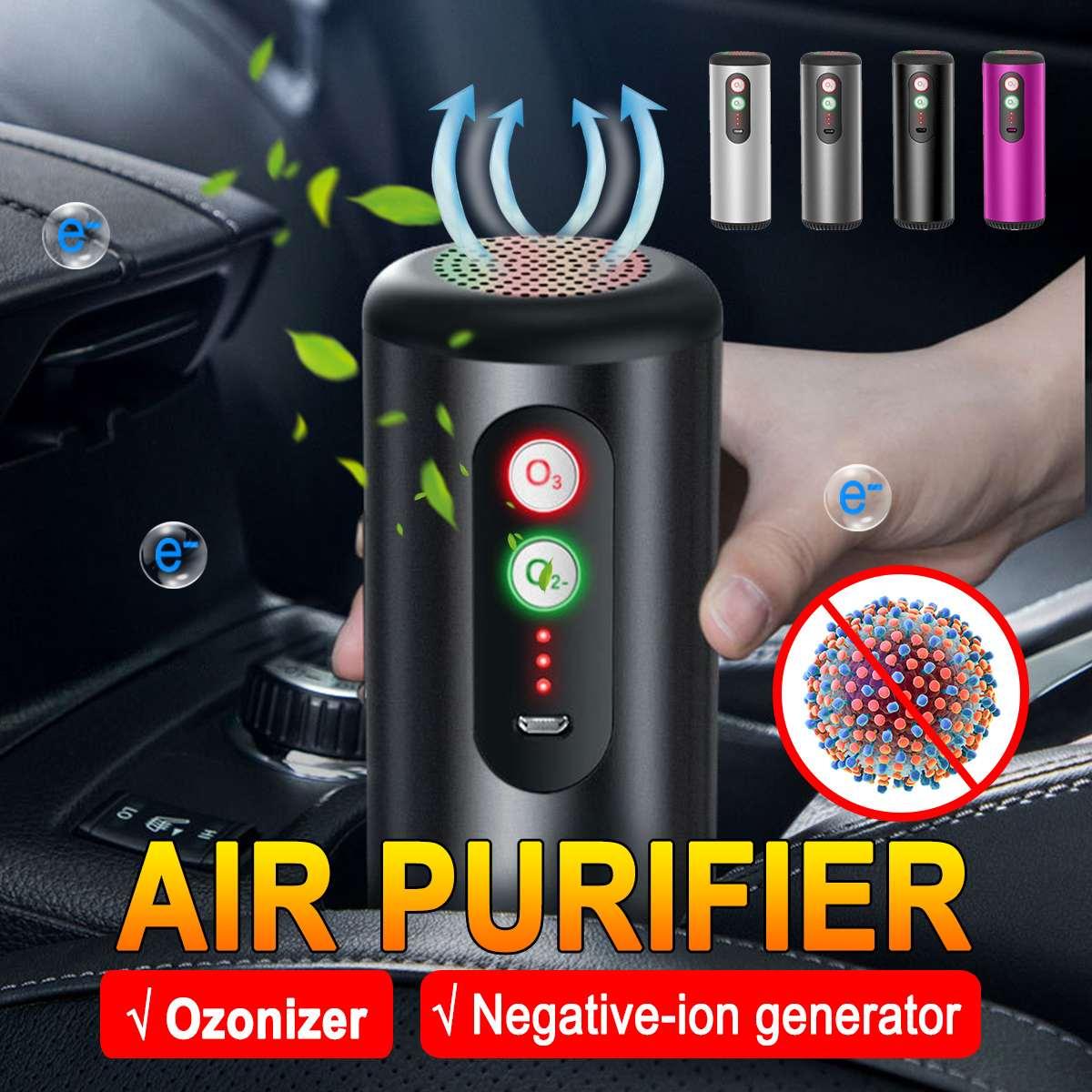 Air Ozonizer Portable Ozone Generator Air Purifier Anion Air Cleaner Sterilization Disinfection for Car Home Office Air Purifier