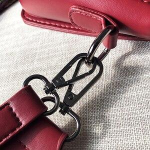 Image 5 - Ladies Handbag Rivet Small Square Bag Crossbody Bags For Women Black Shoulder Bag Red Diamond Lattice Fashion Bags 2019 Femme