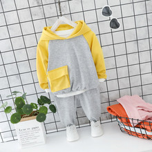 Baby Girls Clothes Autumn Children Suits Infant Casual Sport Cartoon Rabbit Hooded T Shirt Pants 2pcs/sets Kid Toddler Clothing retail black skull baby boy autumn winter sets hooded jacket pants suits 2016 infant clothes toddler clothing children outerwear