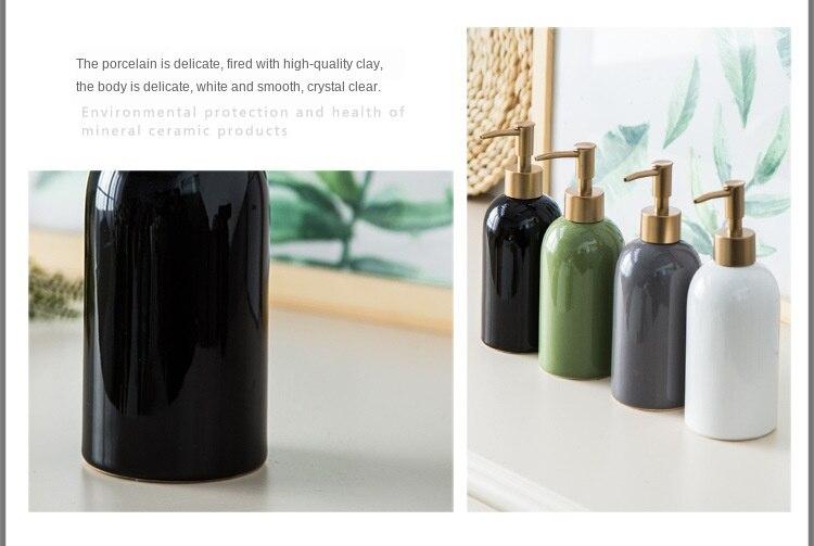 Cerâmica mão desinfetante garrafa banheiro criativo sub