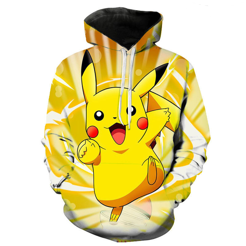 3d Printing Pokemon Cartoon Anime Men's And Women's Hoodie Fashion Children's Cute Sweatshirt Street Pullover Coat 1